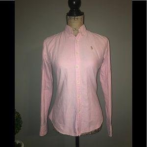 Ralph Lauren pink oxford button down
